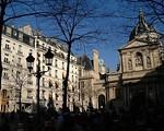 Place de la Sorbonne  Paris 2003 Bessa R2  21 mm Fuji 400